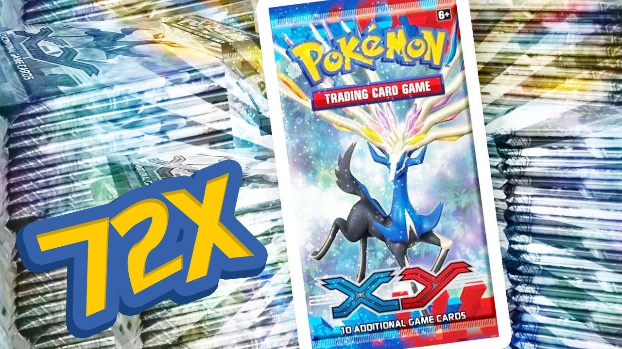 Pokemon xy box opening 2 full boxes 72 booster packs mega