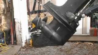 Removing my 1969 Mercury 650 Thunderbolt Ignition 65hp outboard's lower unit.