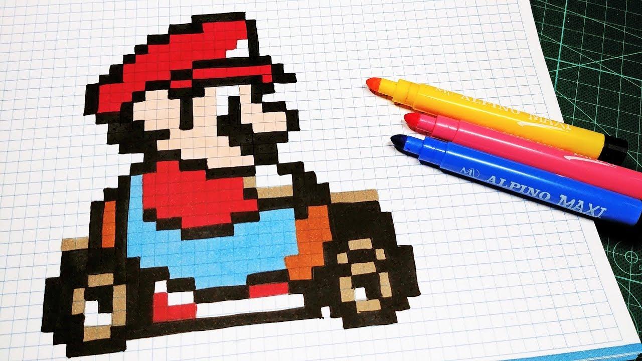 Handmade Pixel Art How To Draw Mario Kart Pixelart