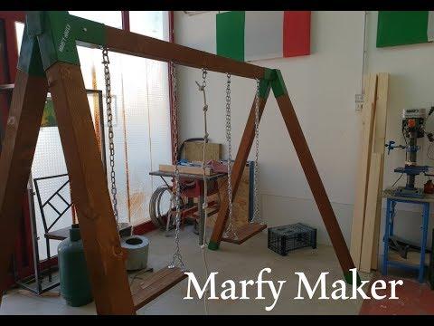 Altalena Legno e Ferro Fai Fa Te Homemade Wood and Iron Swing DIY ...