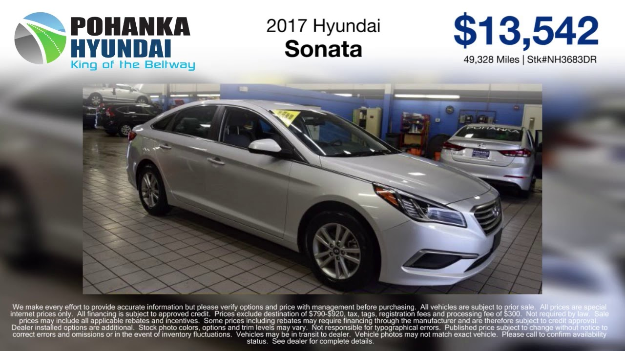 Pre Owned Special On A Select 2017 Hyundai Sonata Models Capitol Heights Md Washington Dc