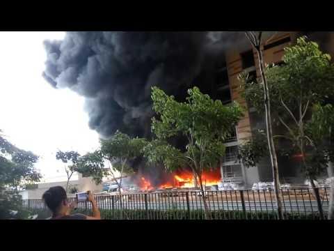 Fire at Punggol Construction Site