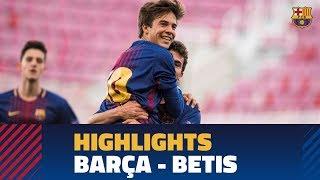 [HIGHLIGHTS] Copa del Rey (Juvenil A): FC Barcelona – Betis (3-1)