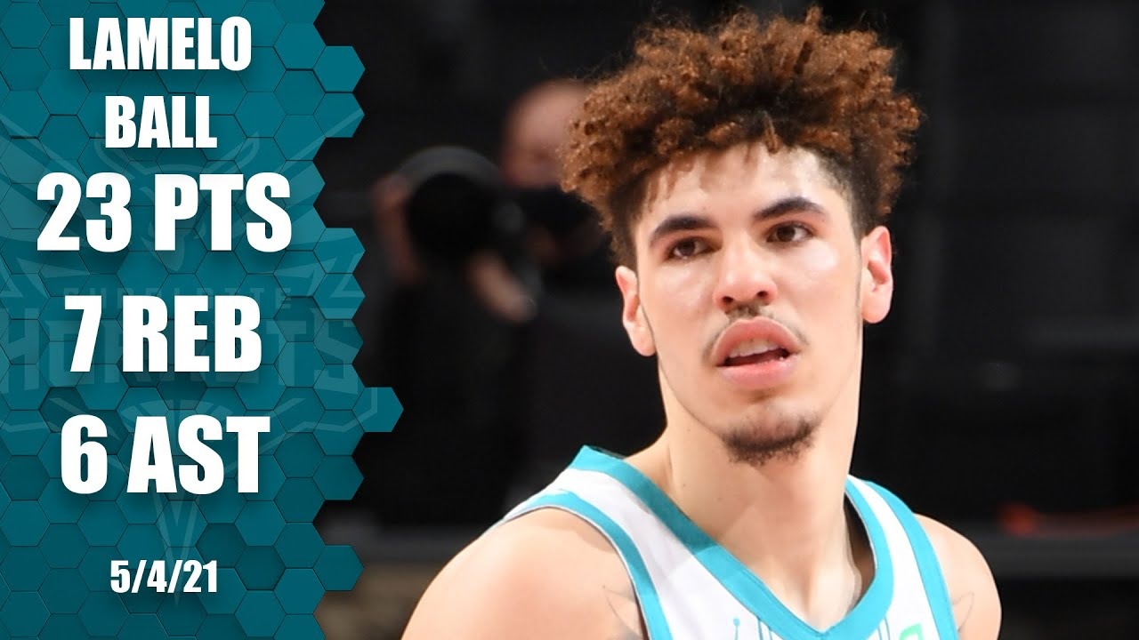 Download LaMelo Ball has an all-around game with 23 PTS, 7 REB & 6 AST ‼️