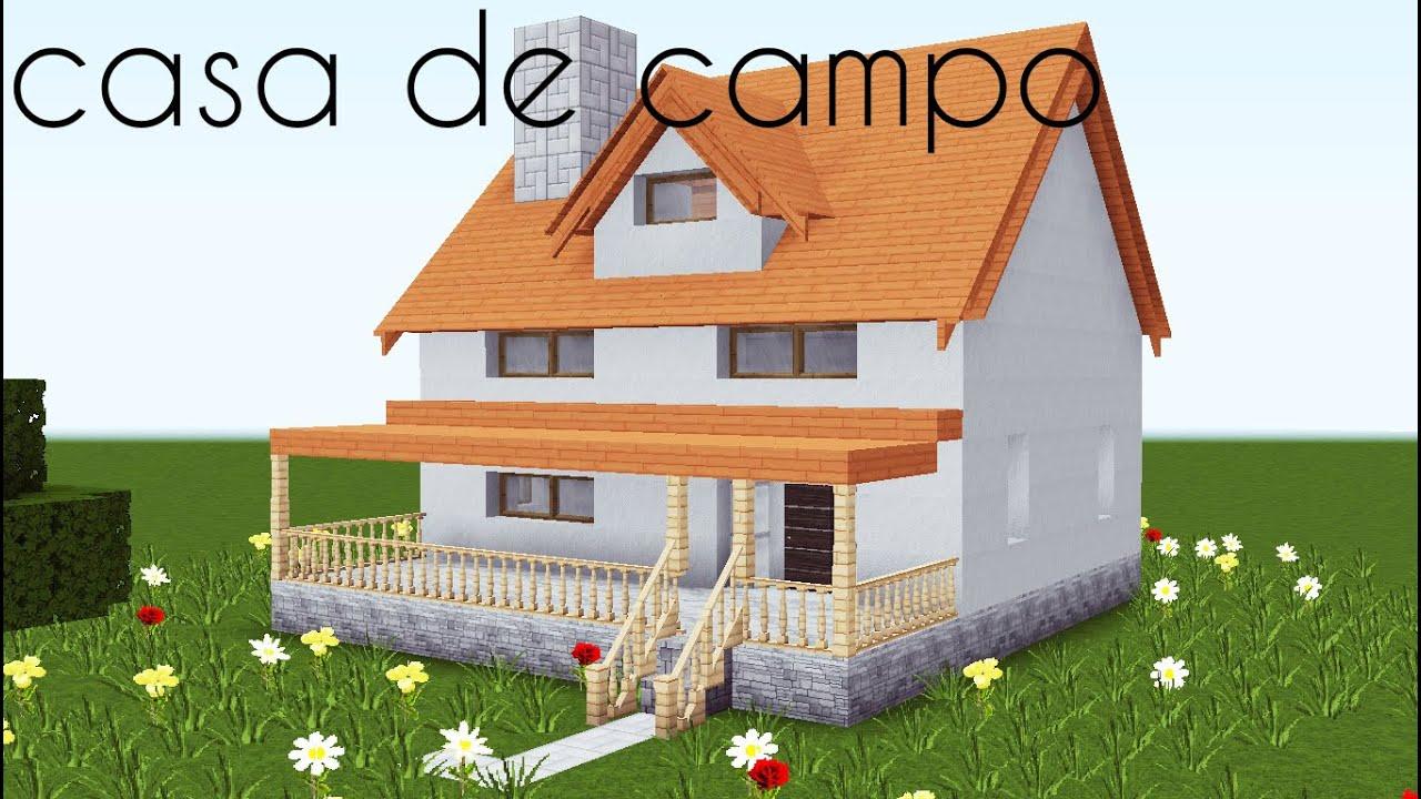 COMO HACER UNA CASA DE CAMPO  minecraft  YouTube