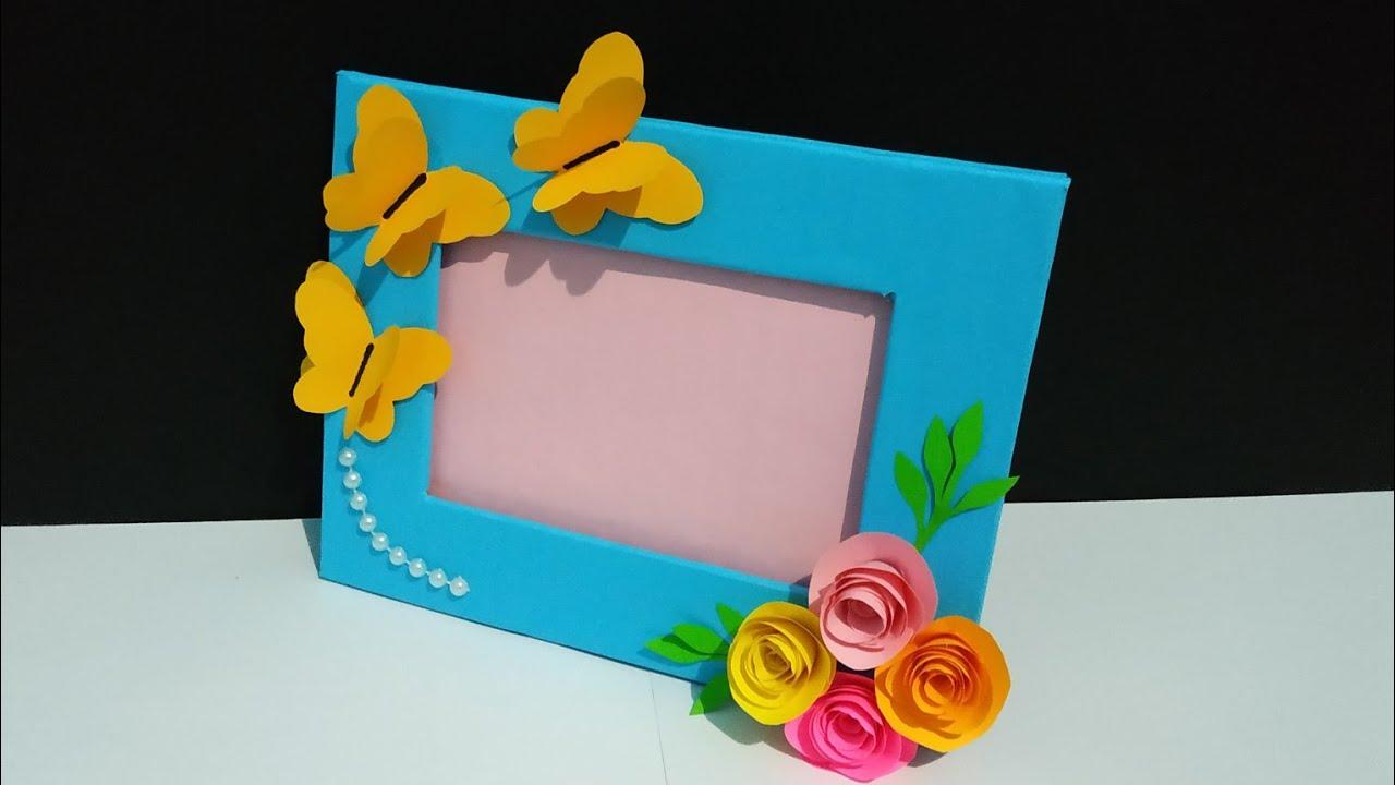 Ide Kreatif Cara Membuat Bingkai Foto Cantik Dari Kardus Bekas Easy Photo Frame From Cardboard Youtube Kreasi membuat bingkai foto