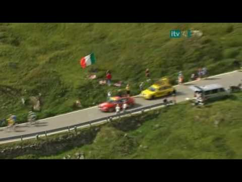 Lance Armstrong Surge on the Col du Petit Saint-Bernard - 2009 TDF
