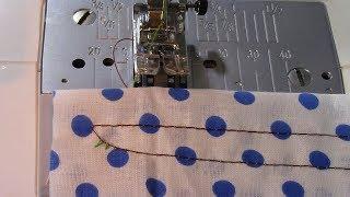 Как отрегулировать строчку на швейной машине. Видео № 376.