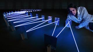 Сколько раз лазер отразится от зеркал?