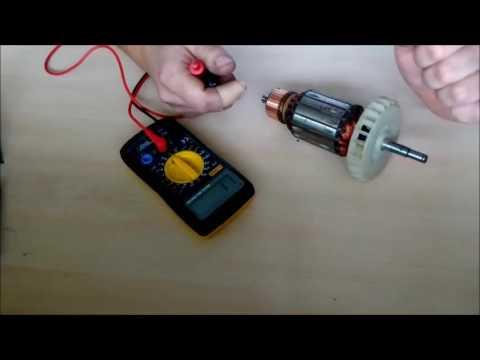 Как проверить якорь электродвигателя тестером видео