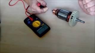 Ремонт болгарки: якорь своими руками, видео, как проверить тестером, перемотка электродвигателя в домашних условиях
