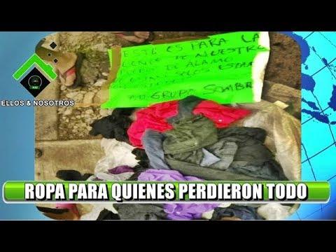 Grupo Sombra del G regala pacas de ropa en colonias de Álamo Ver