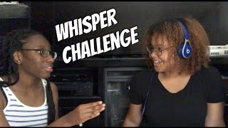 Chi does WHISPER CHALLENGE with a friend