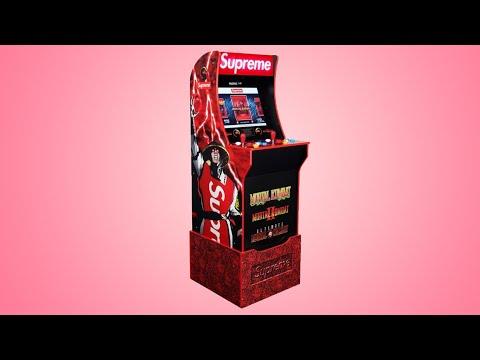 I built SUPREME X MORTAL KOMBAT ARCADE1UP machine with my boyfriend 💪🏻 from Elif Ersen