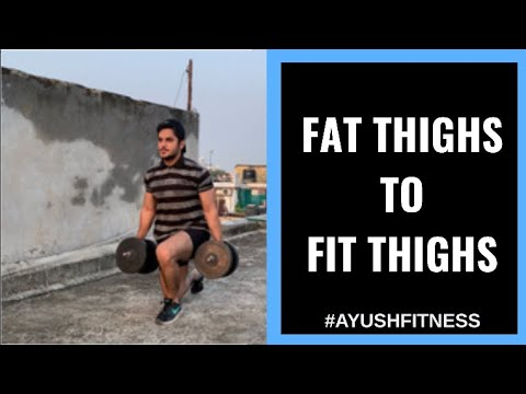 Legs Workout with Dumbbells at Home in Hindi | Fat Thighs to Fit Thighs | Ayush Kumra legs workout