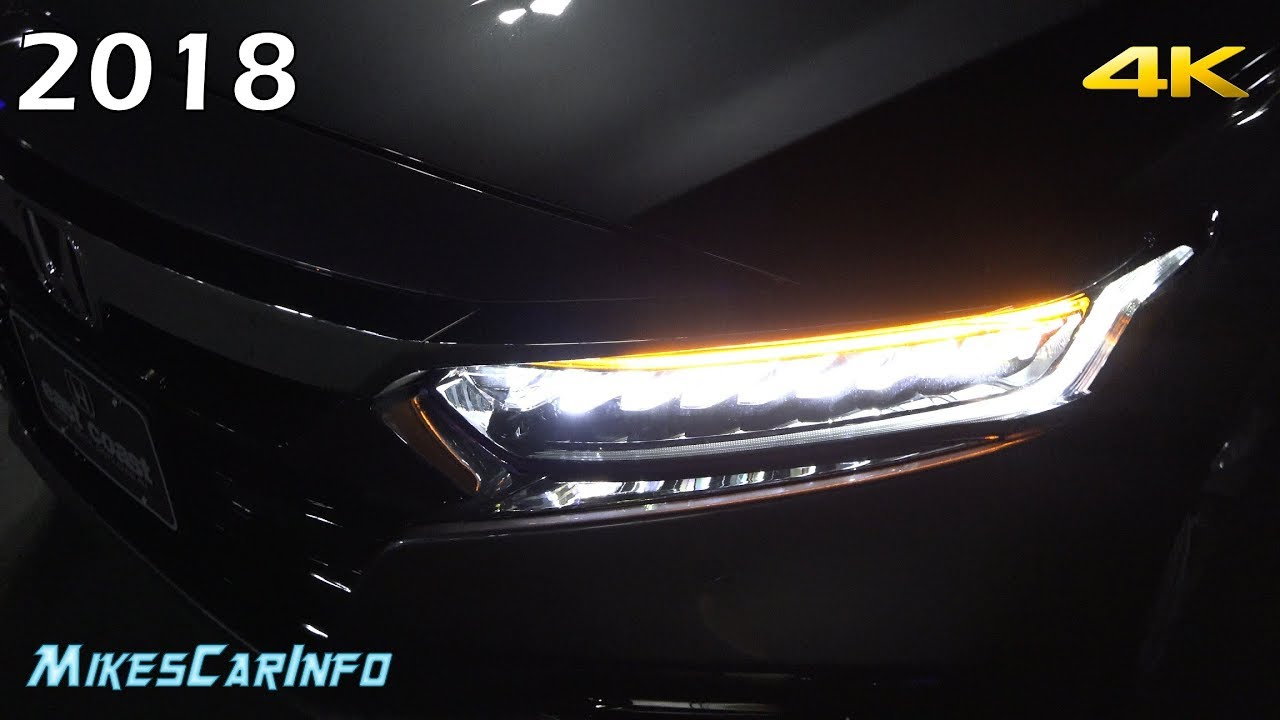 At Night 2018 Honda Accord Interior Amp Exterior Lighting Overview Youtube