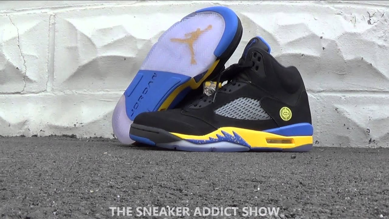 7fb4736e67e 2013 air jordan 5 fresh prince of bel air v sneaker review on feet w ...