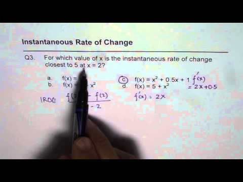 average and instantaneous rates of change study com