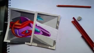 tutorial aprende a hacer un graffiti en 3D con obstáculos de por medio/tutorial 3D graffiti