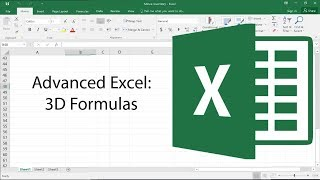 Advanced Excel - 3D Formulas - Advanced Excel Tutorial