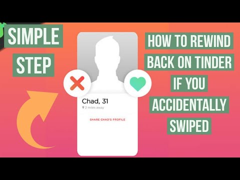How To Rewind Back If You Accidentally Swiped On Tinder Simple Solution Youtube