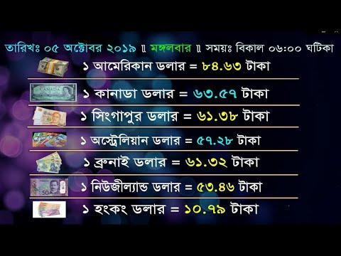 আজকের বিদেশি টাকার সঠিক রেট Today Money Exchange Rate In Bangladesh 5 October 2019 | Currency Rate