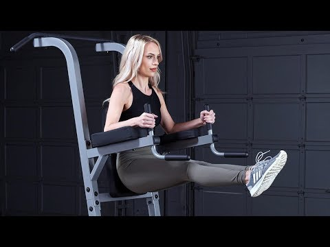 Body-Solid GVKR82 Vertical Knee Raise/Dip/Pull-Up (BodySolid.com)
