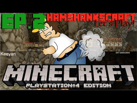 Minecraft PS4 Edition Family Let's Play - Ep.2 - Mining Plus Farts? [Four player splitscreen]