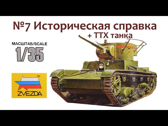 Сборка модели Т-26 - Звезда 3538. Историческая справка + ТТХ танка