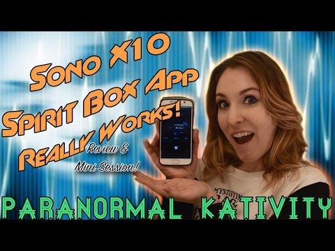 Sono X10 Spirit Box App Really Works! (review & mini session