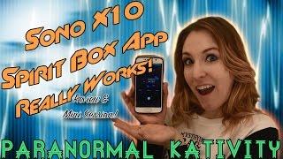 sono x10 spirit box app really works review mini session