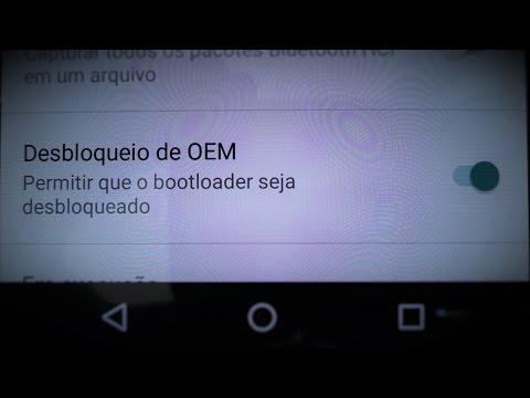 """Como habilitar o """"Desbloqueio de OEM"""" para Root no Moto X de 2a geração com Android Marshmallow"""
