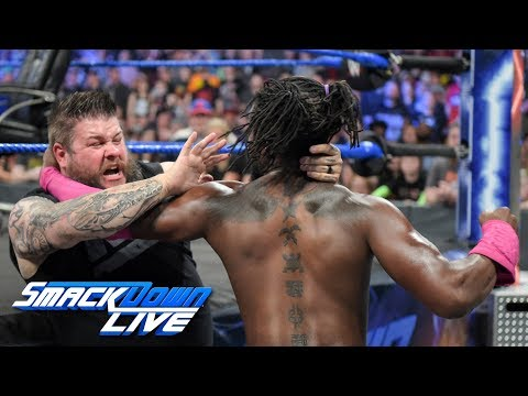 "Kevin Owens mocks the injured Xavier Woods on ""The Kevin Owens Show"": SmackDown LIVE, April 30, 2019"