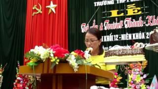 Bài phát biểu lấy đi nhiều nước mắt trong buổi lễ tri ân và trưởng thành - trường THPT Sầm Sơn