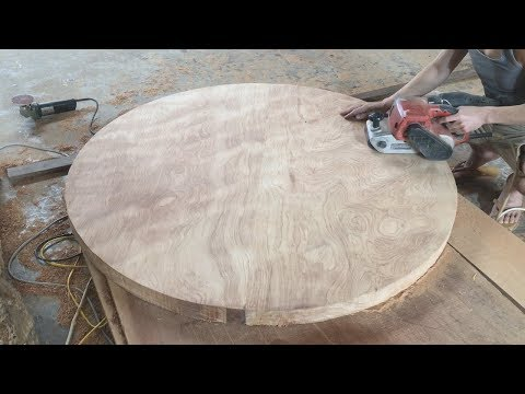 Amazing Woodworking Skills // How To Build Round Table Of Woodworking Project For Kitchens, DIY!