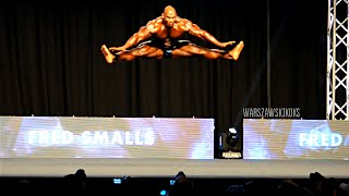 Fred Smalls - Dancing Bodybuilder - 2014 Prague Pro posing