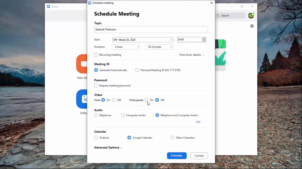 Cara Membuat Meeting Schedule dengan Zoom di Laptop/PC ...