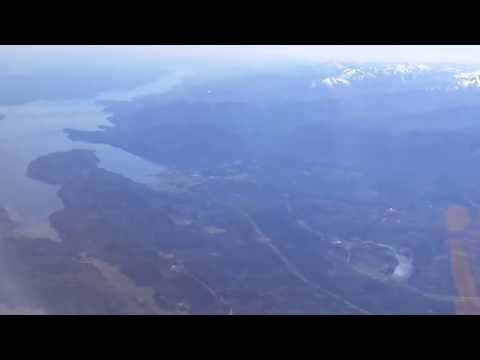 Victoria BC to Seattle flight: Saanich, Juan de Fuca Strait,
