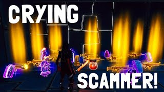 CRYING Scammer gets Scammed In fortnite save the world pve