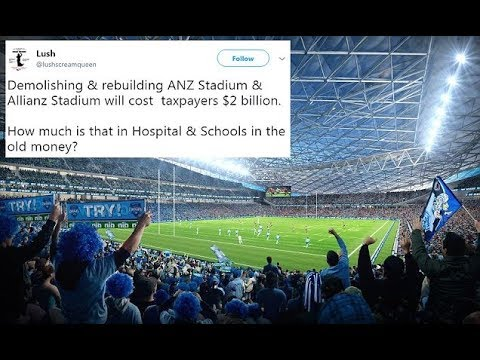 Outrage government to d emolish and rebuild Sydney stadiums