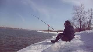 Разведка летних мест на Оби Рыбалка на фидер ранней весной Рыбалка 2020