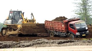 All Dump Truck Stuck Recovery by Heavy Equipments