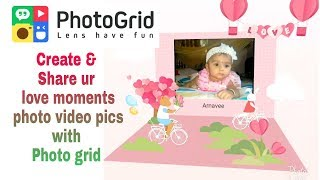 Photo Grid Animated 3D Card Photo video pics || Photo Grid 3D Card like after effects video template