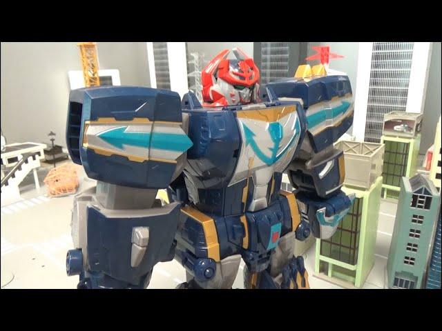 파워레인저 캡틴포스 공룡 로봇 변신 Power Rangers Super Megaforce Dinosaur Megazord Transformation