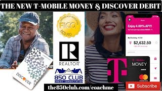 The New T-Mobile Money Checking Account & Discover Debit Card-Chexsystem,MyFICO,Ultra,2019,Cash Back
