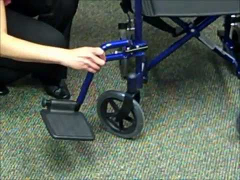 How to Assemble and Fold Your Transport Wheelchair  YouTube