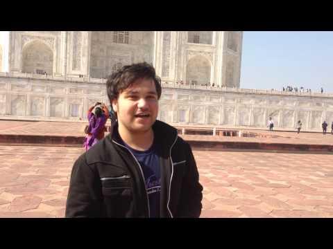 Manochehr ghiasi Taj Mahal visiting.