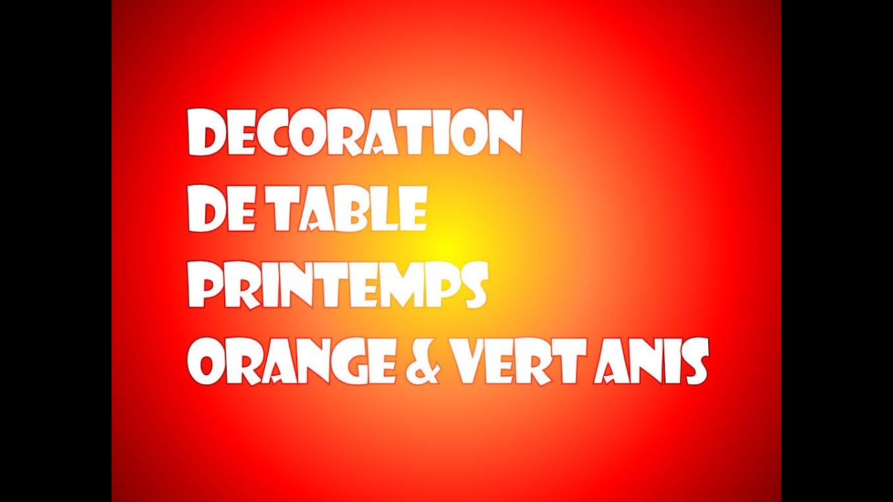 id e de d coration de table orange et vert anis th me. Black Bedroom Furniture Sets. Home Design Ideas