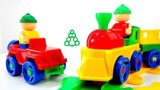 Игрушки Бауэр: конструктор железная дорога и поезд