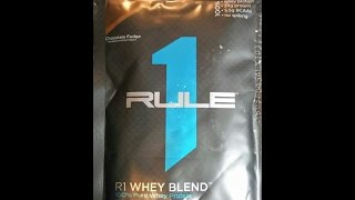 Rule 1 Proteins R1 Whey Blend review Chocolate Fudge(Relatively new to the market, and super tasty. 24g per serving and no amino spiking., 2016-01-21T06:29:45.000Z)